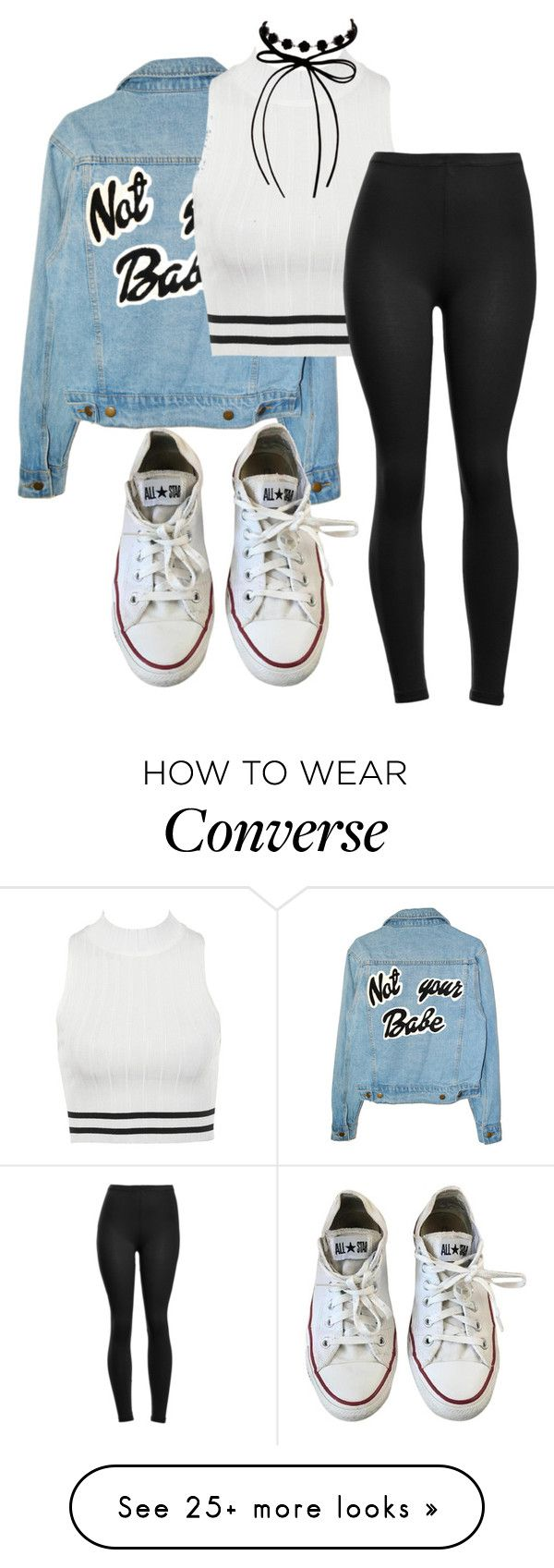 """""""Untitled #3674"""" by mfr-mtz on Polyvore featuring Converse and Erica Lyons"""