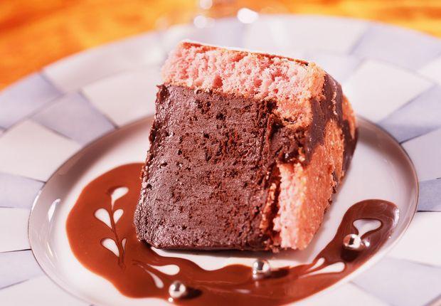 Gâteau choco rose