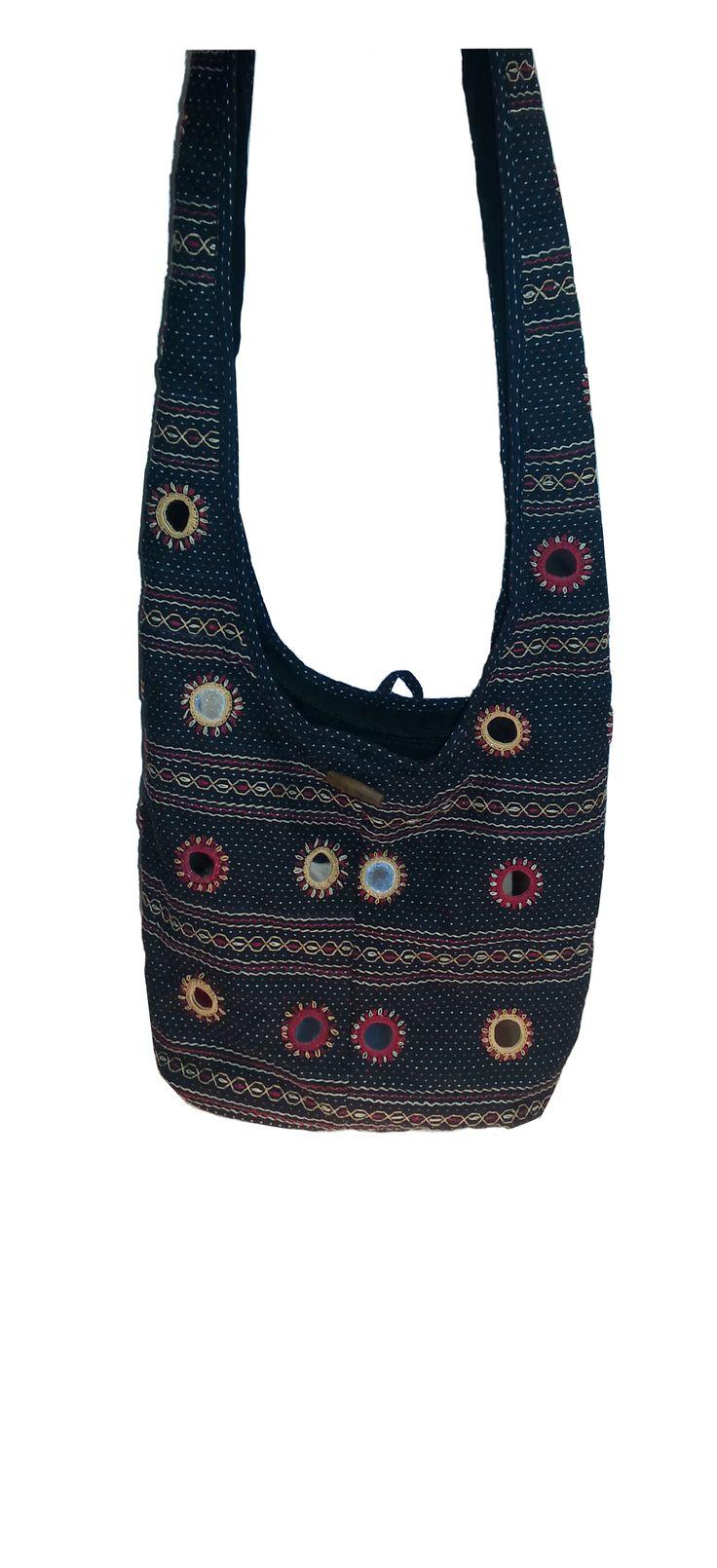 Sabala Handicrafts Jolly Jhola Black $24.99