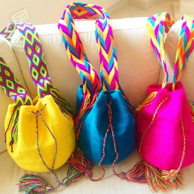 Variedad de colores #moda #wayuubags