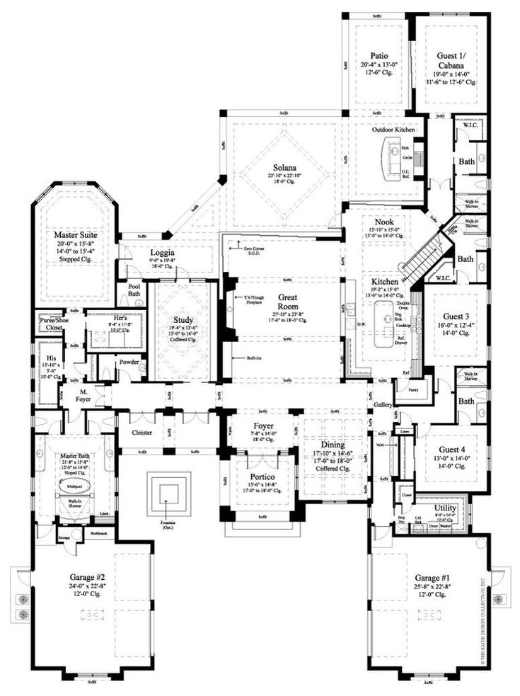 75 best Two Story House Plans l The Sater Design Collection images