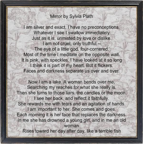 symbols in sylvia plath's poetry Sylvia plath's poetry is categorized as the so-called confessional poetry  the  speaker considers the big statue as the symbol of the father and says that she.