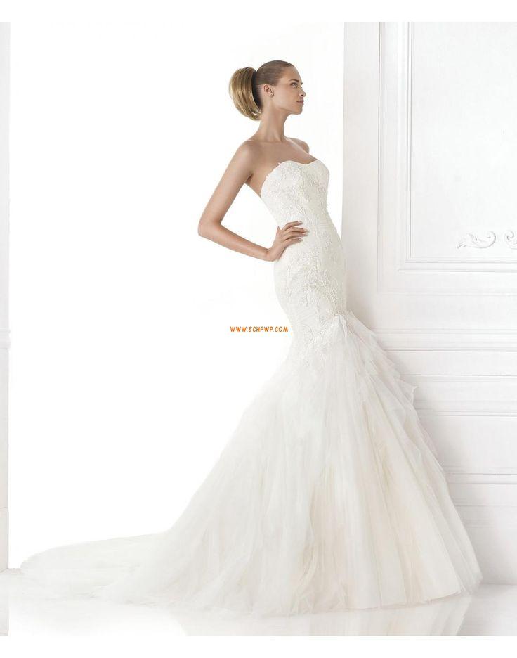Meerjungfrau-Linie/Mermaid-Stil Elegant & Luxuriös 3/4 Arm Brautkleider 2015