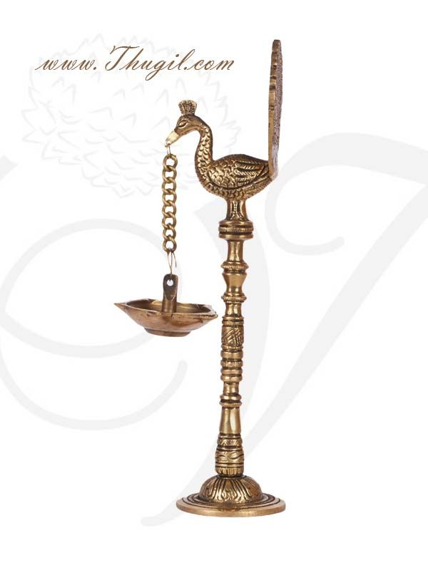 Traditional Indian Peacock With Hanging Lamp Diya Lamp Brass Diyas Hanging Lamp