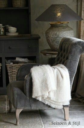 #Soft furnishing ideas - in grey and white so cosy... http://www.myrenovationstore.com