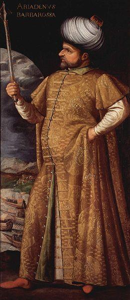 Hayreddin Barbarossa - Pasha of Algiers, Admiral of the Fleet. 1580 by an italian master.