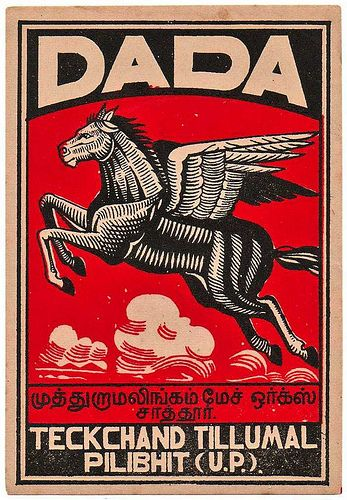 indian matchbox label