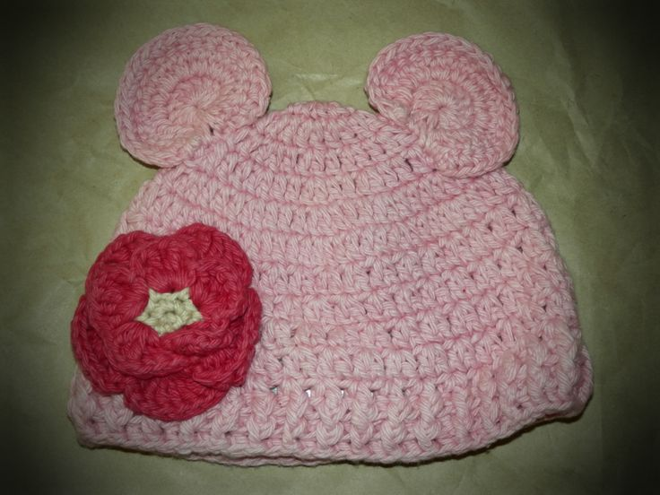 Pink Ear Hat with Flower by Ruffle Butts    http://fairytails.kiwi.nz/collections/girls-hats/products/pink-ear-hat-with-flower