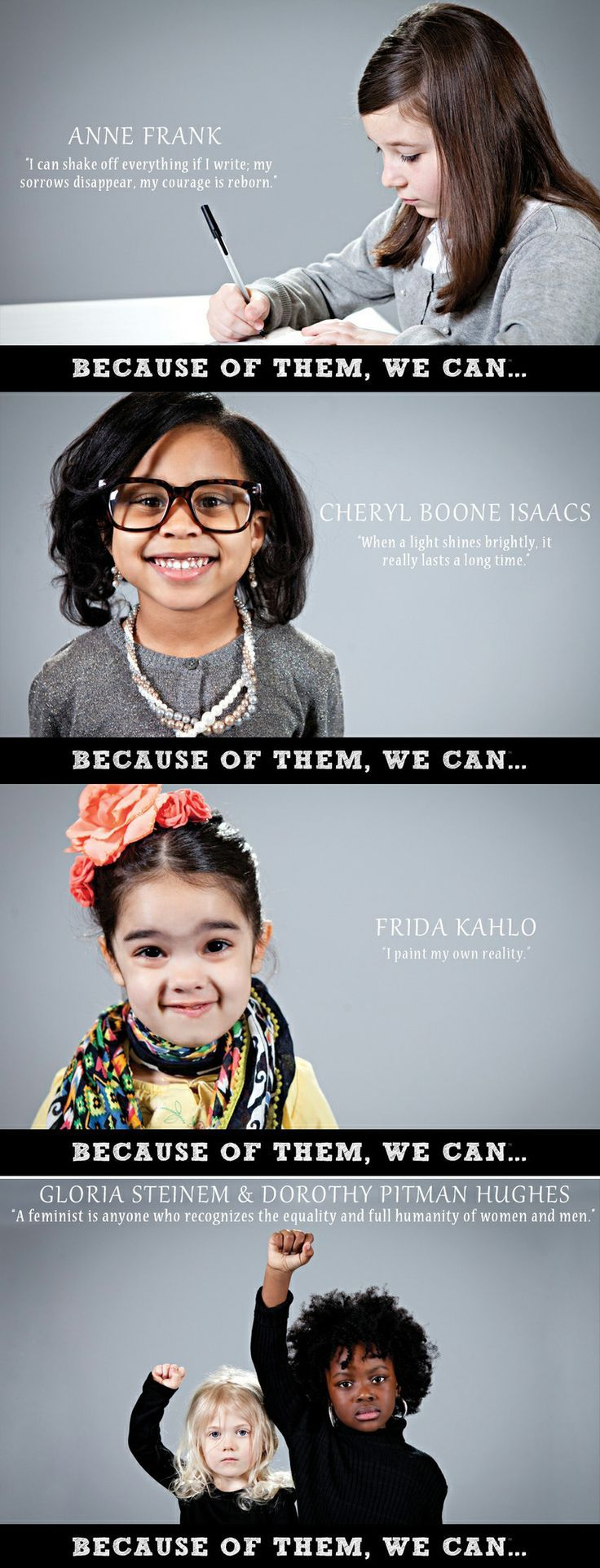 Strong little girls grow up to be influential women, so it's never too early to get started! They might be small, but with your help they can be mighty!