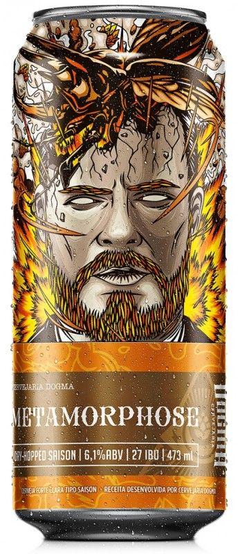 Cerveja Dogma Metamorphose, estilo Saison / Farmhouse, produzida por Cervejaria Dogma, Brasil. 5.1% ABV de álcool.