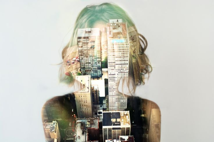 "Deep double exposure photography from the project ""Insideout"" by Grain Pixels photography"