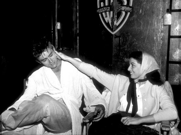 James Dean and Pier Angeli (Anna Maria Pierangeli)