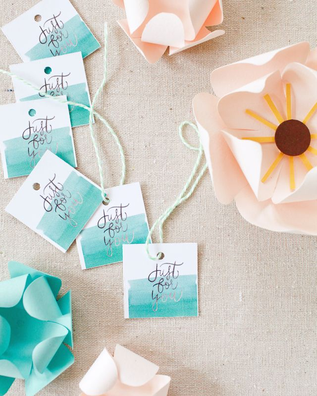 Printable Hand Lettered Watercolor Wedding Stationery 74