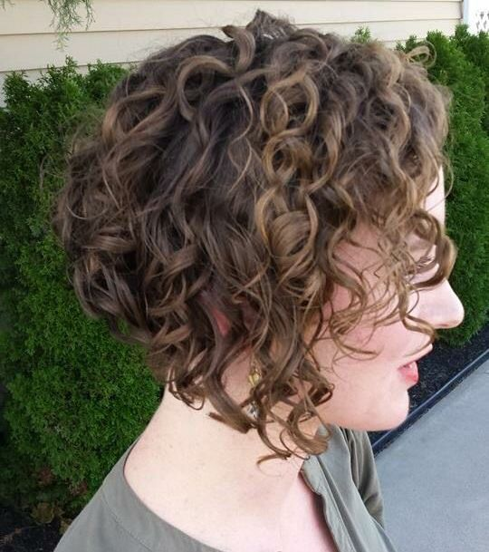2016 Curly inverted bob images
