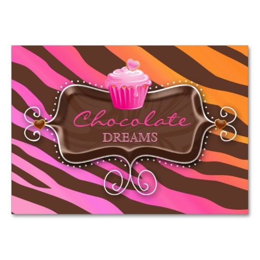 Bakery Gift Certificate Chocolate Cupcake Pink Org Business Card Templates