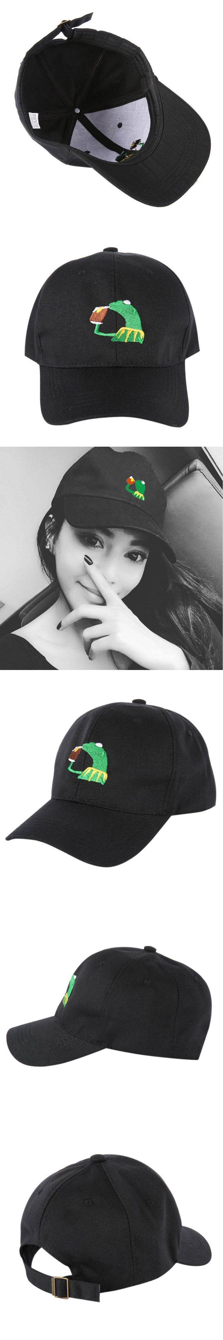 2017 The Frog Sipping Tea Hat Drake Embroidery Cap  New Classic Dad Hat Popular Baseball cap