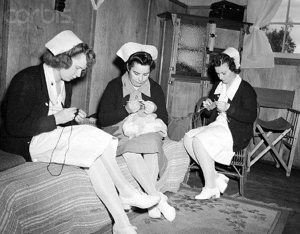 u s  army nurses knitting