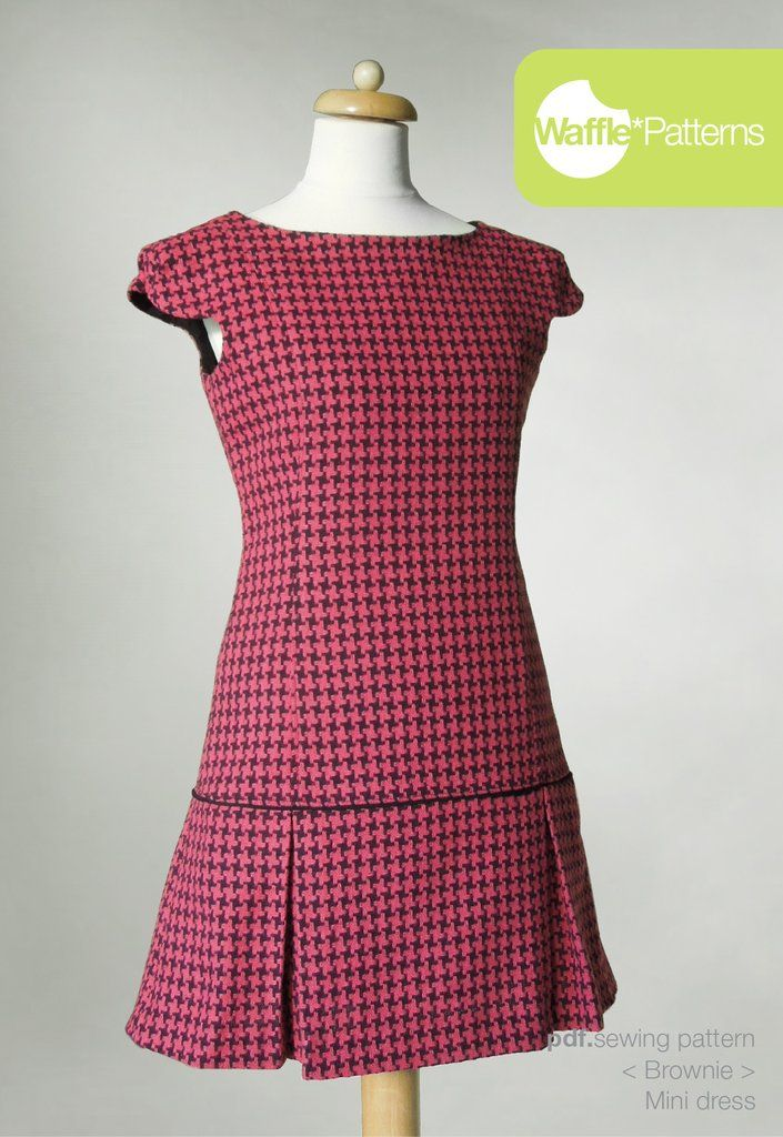 Waffle Patterns sewing patterns Mini dress Brownie