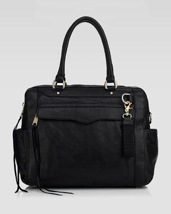 Knocked Up Leather Diaper Bag, Black  by Rebecca Minkoff at Neiman Marcus.