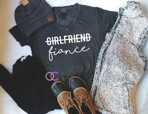 Fiance Shirt Girlfriend Fiance Shirt Newly Engaged Future