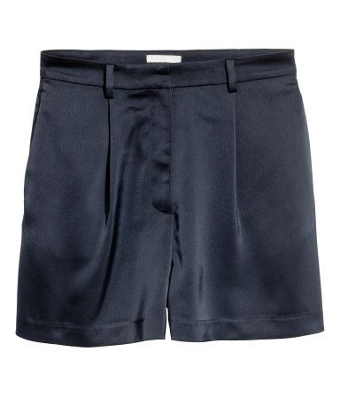 High-waisted Shorts | Dark blue | Women | H&M US
