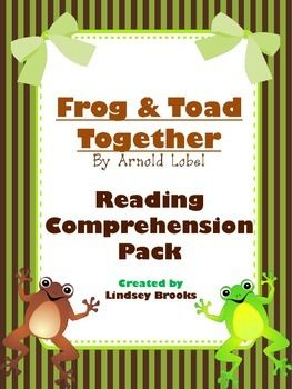 Frog  Toad Together #reading #comprehension pack - student response log included for pre-reading and each of 5 book chapters. Perfect for student accountability! #GuidedReading