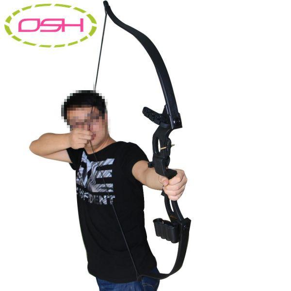 アーチェリーの弓黒の伝統的な化合物弓用大人のアウトドアスポーツ狩猟射撃ゲームスリングショット弓アクセサリー