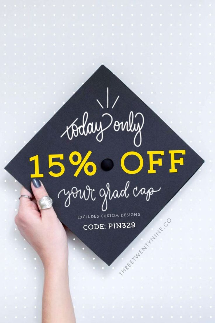 Just for you, today only. Enjoy 15% off your graduation cap decal. Buy today, and decorate your cap ... today!