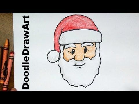 Drawing: How To Draw Santa Claus Face! Step by Step Lesson cartoon easy ...