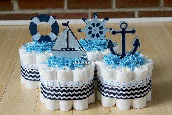 Ensemble de 4 couches nautique Mini gâteaux par BabeeCakesBoutique
