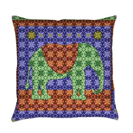 Colorful Elephant Everyday Pillow