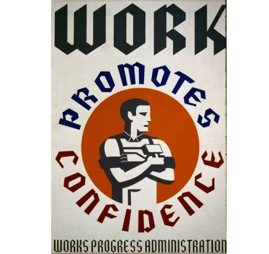 Vintage Posters From the Works Progress Administration, I didn't use this poster as often for Lean On and Lead widgets, but I do use it a couple times.