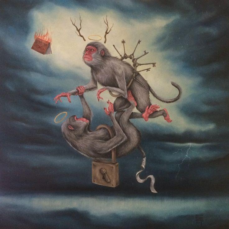 Perpetual Struggle oil on canvas - 2016 www.facebook.com/P54.Art