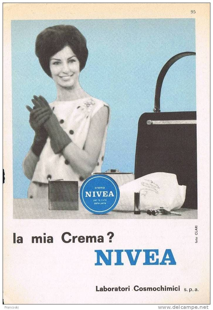"Love this #vintage ""CREMA NIVEA"" 1960 #advert from Italy"