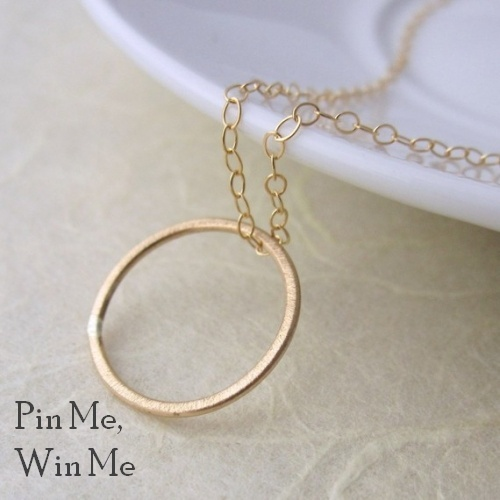 Enter my Pinterest Giveaway to win a 14k Gold Fill Tiny O Necklace.      Repin for a chance to win. Giveaway ends 25th May 12noon (GMT), I'll post a comment here to announce the lucky person.    Happy Pinning Everyone :)