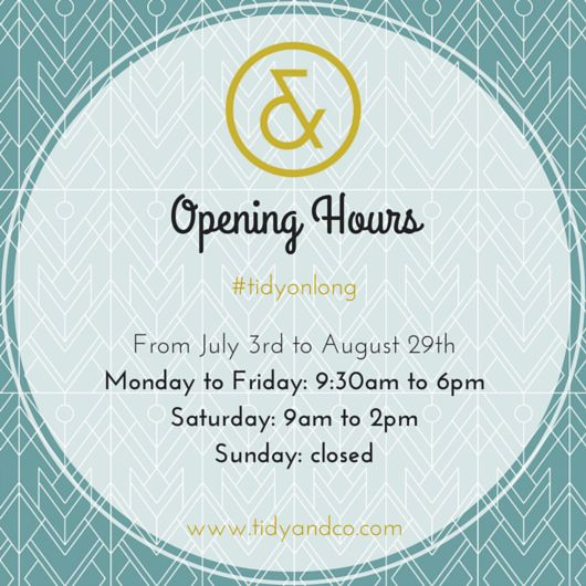 Until end of August :) Tidy & Co. on Long St Cape Town