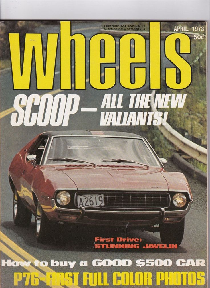 Gift Idea for Him April 1973 Vintage Australian Wheels Magazine by SuesUpcyclednVintage on Etsy