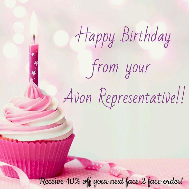 Happy Birthday for Facebook posts.  Www.youravon.com/rmahurin