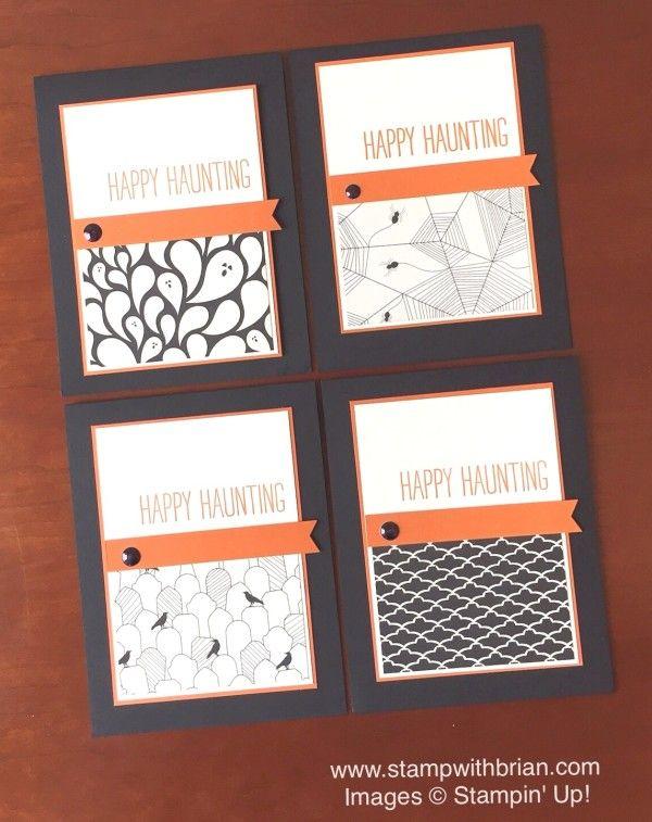 cheer all year happy haunting designer series paper stampin up brian halloween ideashalloween - Stampin Up Halloween Ideas