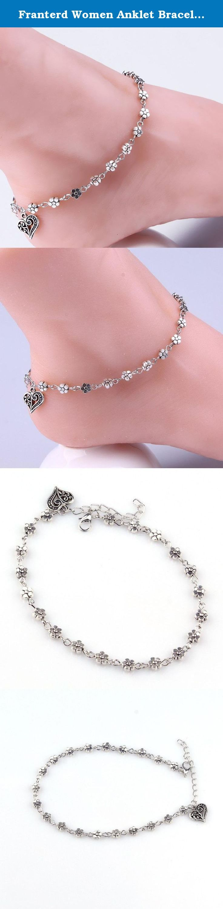 Franterd Women Anklet Bracelet Barefoot Sandal Beach Foot Silver Bead Chain. Feature: 100% brand new and high quality. Quantity: 1PC Wonderful gift for you and your female friends Catch this beautiful accessories for you Package Include: 1X Anklet (Without retail package).