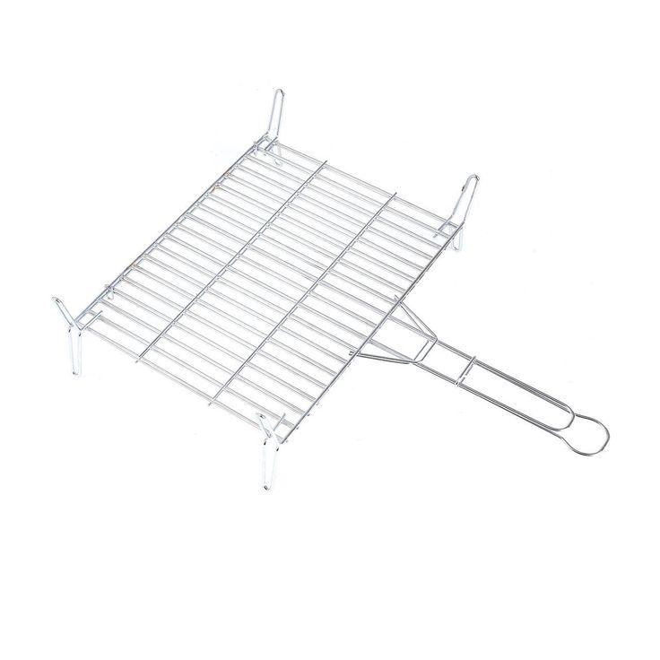Rayen AA96 Stainless Steel BBQ Grill Rack, Chrome/Grey, Grey, 40x40x15 cm