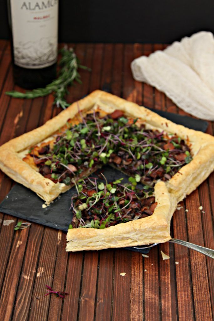 Mushroom and Bacon Tart. Easy and elegant. The perfect way to start any dinner party.