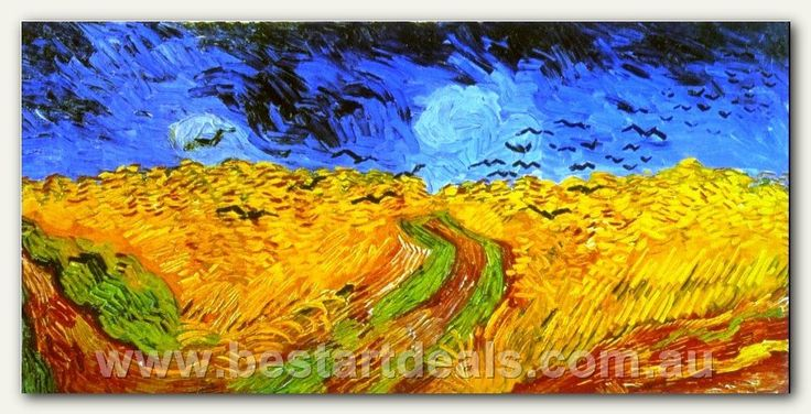 Wheat Fields with Crows,     VINCENT VAN GOGH LAST OIL PAINTING