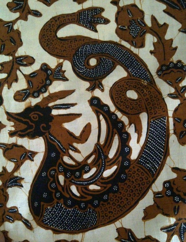 Batik tulis Central Java in a Naga motif (close up of one area only)