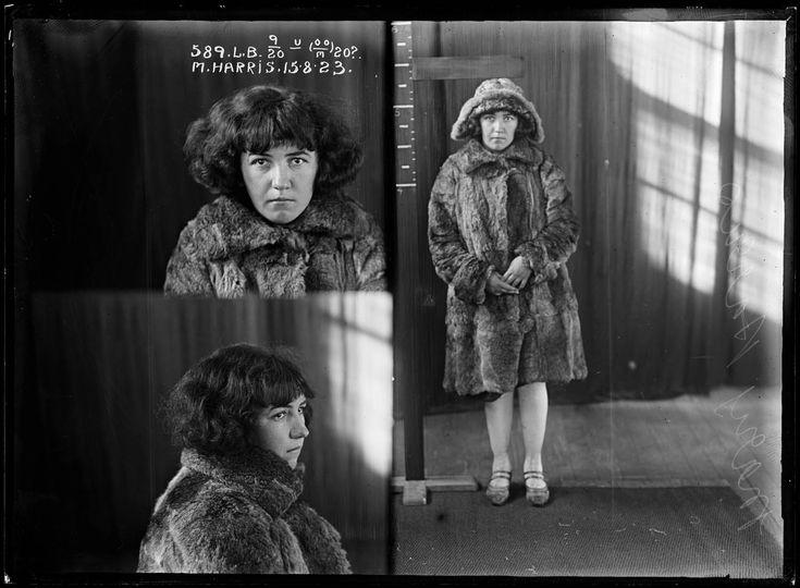 Mary Harris, 15 August 1923. State Reformatory for Women, Long Bay, NSW. Mug shot