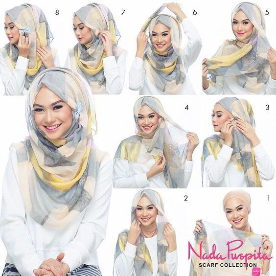Tutorial Hijab Segi Empat Simple
