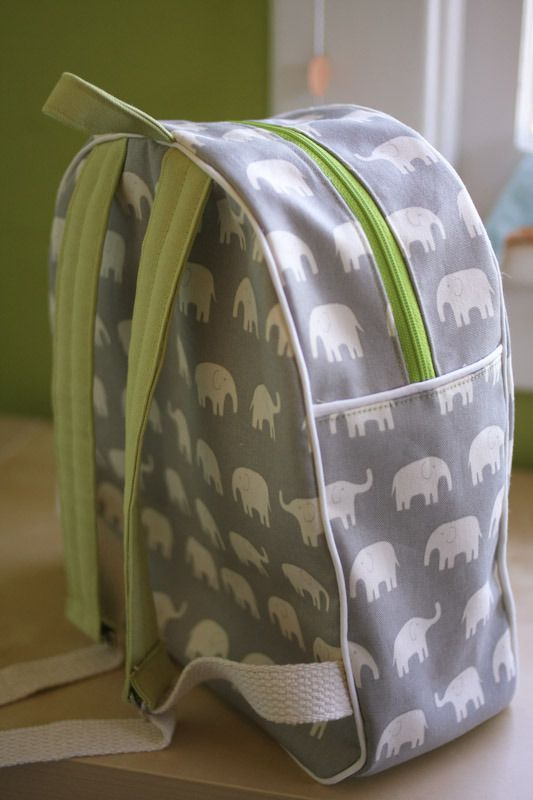 the Toddler Backpack Pattern from Made by Rae – it's a great pattern and kids look so cute and grown-up wearing these little backpacks. Two ...