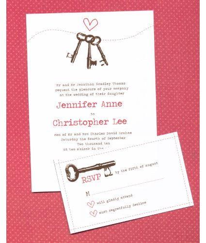 Keys To Your Heart Invitation Set