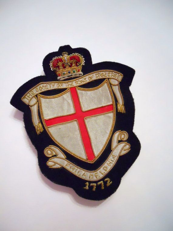 vintage crest patch with crown by livingstonandporter on Etsy, $38.95