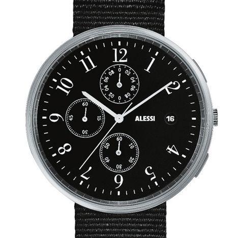 Record Chronograph by Achille Castiglioni now comes with a Nato strap #design